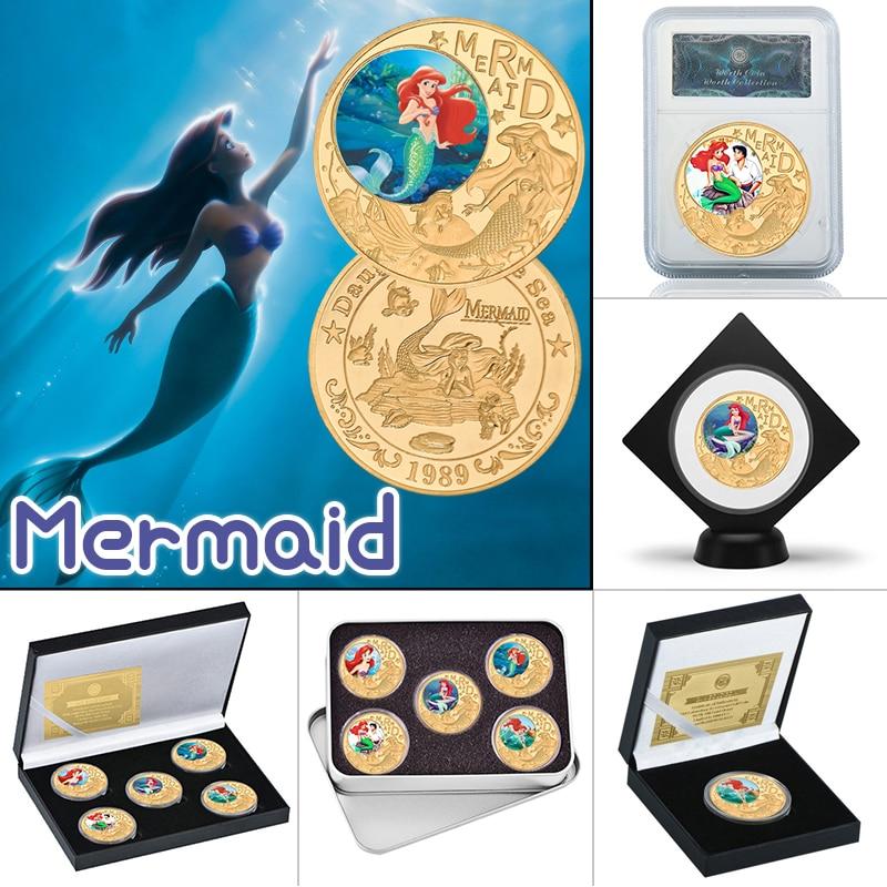 WR классический американский мультфильм позолоченные монеты коллекционные вещи с монетницей США аниме монета оригинальный сувенир подарки...