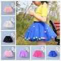Детская многослойная фатиновая юбка-пачка, разноцветное мини-платье принцессы с помпонами, детская одежда, юбка-пачка, одежда для девочек, л...