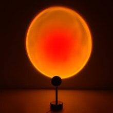 Usb Regenboog Zonsondergang Rood Projector Led Nachtlampje Zon Projectie Bureaulamp Voor Slaapkamer Bar Koffie Winkel Wanddecor
