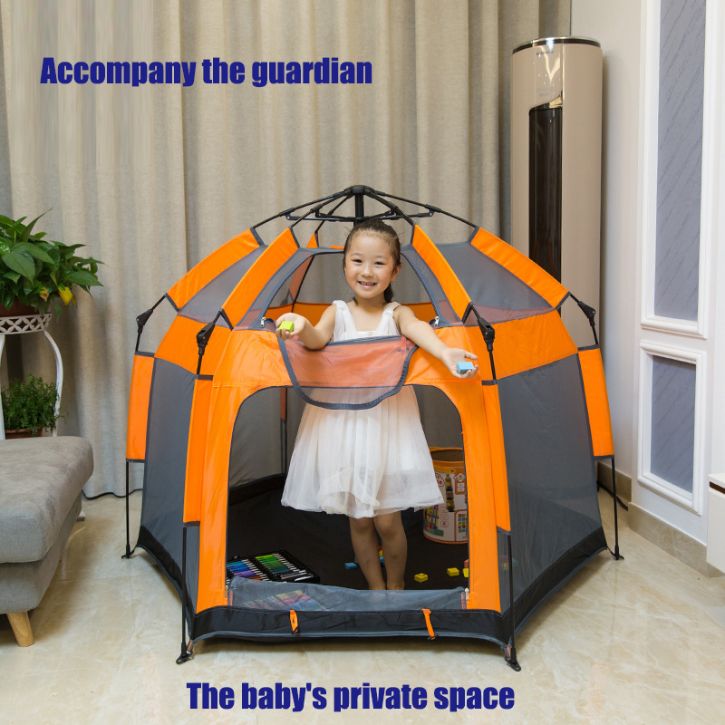 Hot Sale Outdoor Indoor Kids Playpen Portable Game Play Yard The Ultimate Travel Playpen Free Set Up Avoid Building Quick-openi