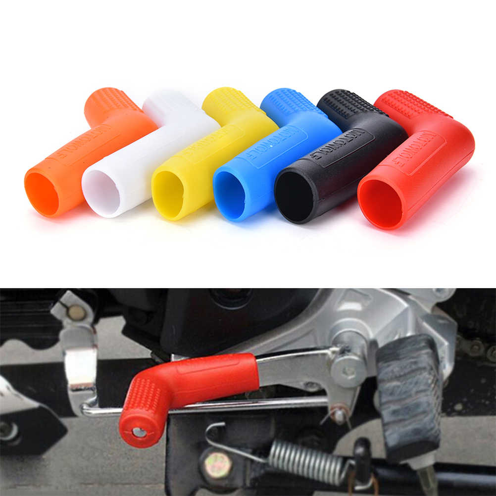 "3/4 ""Rubber Clips Shift Sok Motorcycle Gear Shoe Protector - Sport Fiets Accessoire Zwart Past Shifters Tot Breed en 2"" Lange"