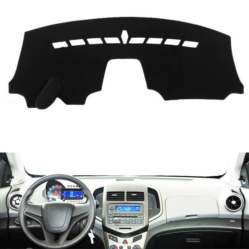 Car Dashboard Dash Cover Mat Pad Sun Shade Instrument Carpet Accessories For Chevy Chevrolet <font><b>Aveo</b></font> Sonic 2012 <font><b>2013</b></font> 2014 2015 2016 image