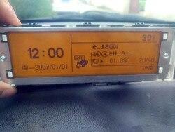 Oryginalna jakość żółty ekran USB + Dual-zone powietrza Bluetooth monitor 12 Pin dla Peugeot 307 407 408 citroen c4 C5