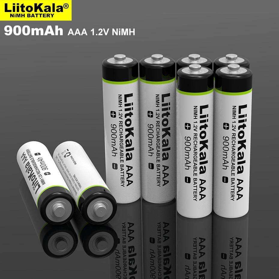 Nouvelle batterie originale LiitoKala AAA 1.2 v 900mAh NI-MH piles rechargeables 1.2 V pour lampe de poche, jouets, télécommande