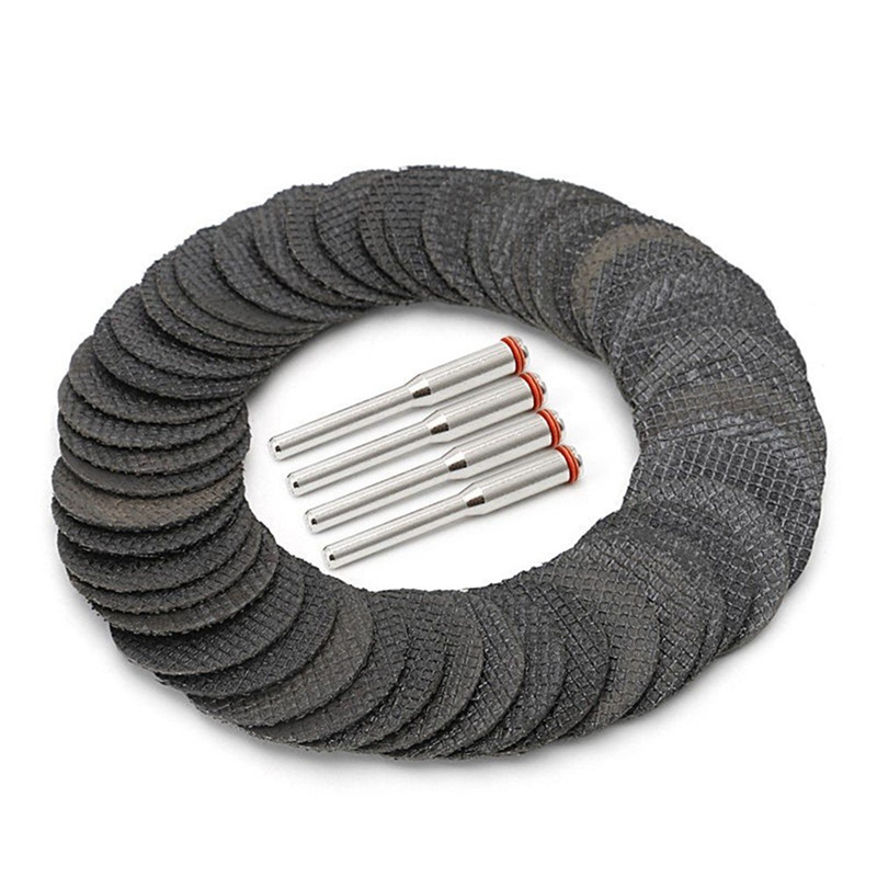 50 Pcs 1 1/4 Inch Cut Off Wheels Abrasive Cutting Tool Disc With 4 Mandrels Included Rotary Discs
