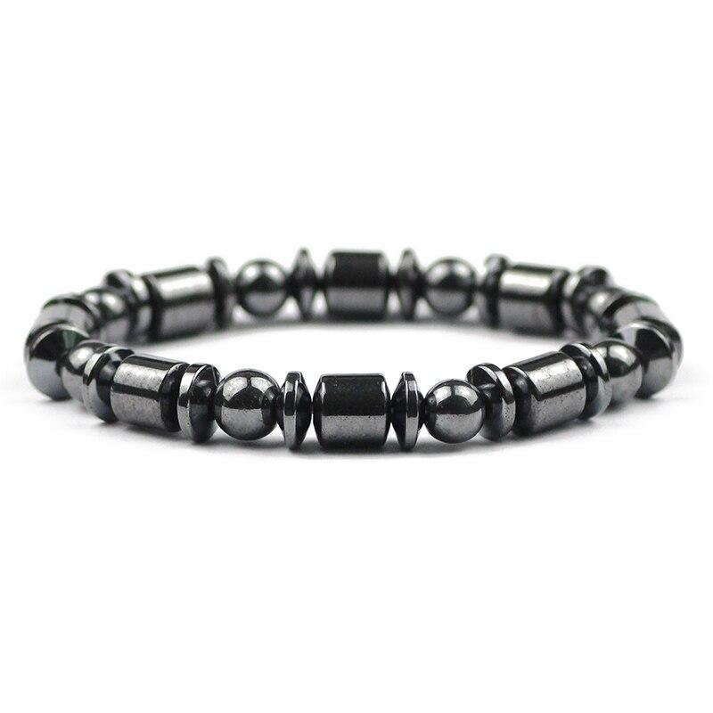 Браслеты из гематита с позитивной энергией, мужские браслеты из гематита, женские браслеты из натурального камня на удачу, ювелирные издели...