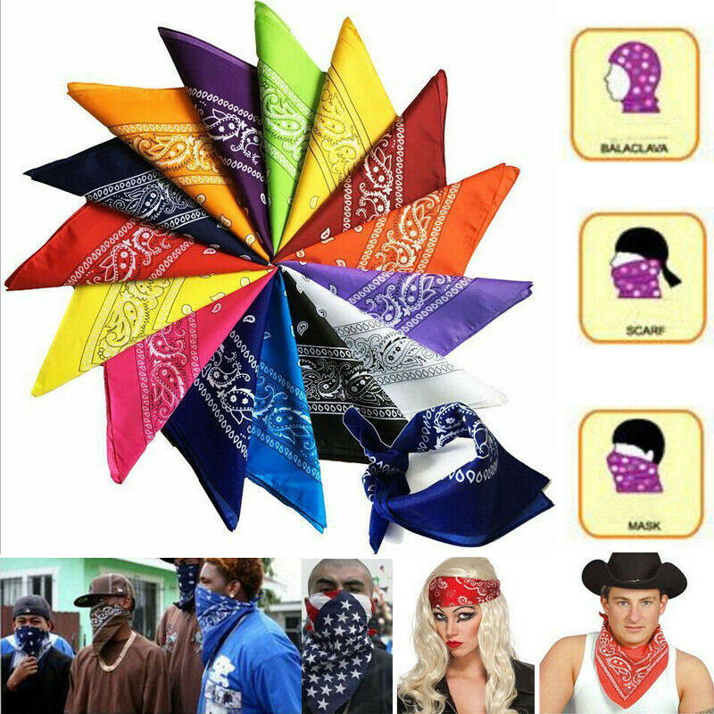 2020 Unisex Double Sided Headscarf With Wrap Neck And Head Cloth 100% Cotton Boho Print Pocket Squares Women Man