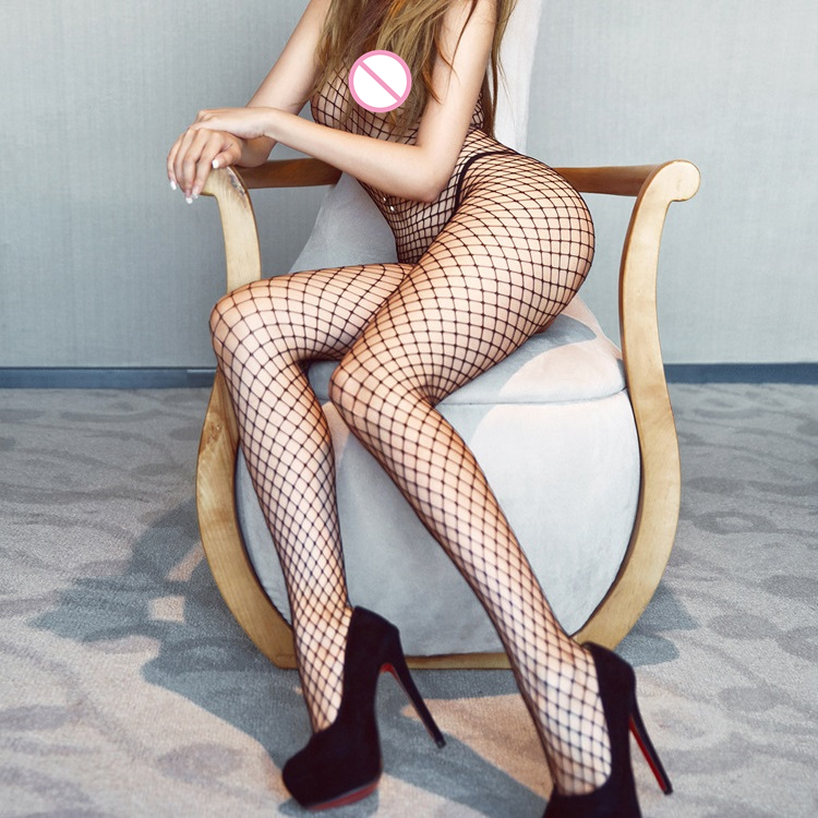 Sexy Lingerie Woman Fishnet Bodystockings Erotic Lingerie Crotchless Babydoll Hot Sex Costumes Open Crotch Full Body Pantyhose 2