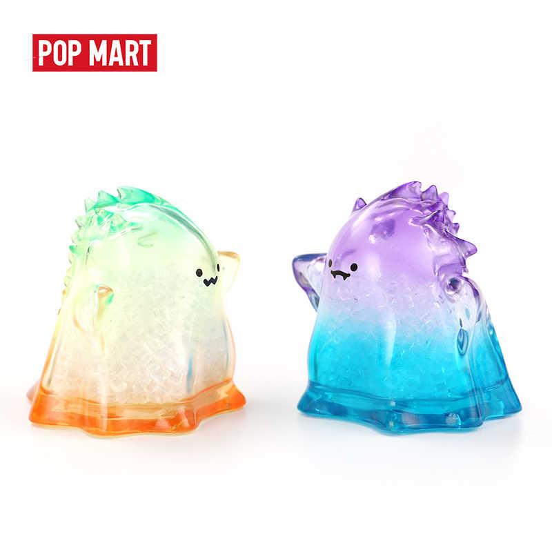POPMART 1PC YUKI Transparent Serie Blind Box Puppe Binary Action Figure Geburtstag Geschenk Kid Spielzeug freies verschiffen