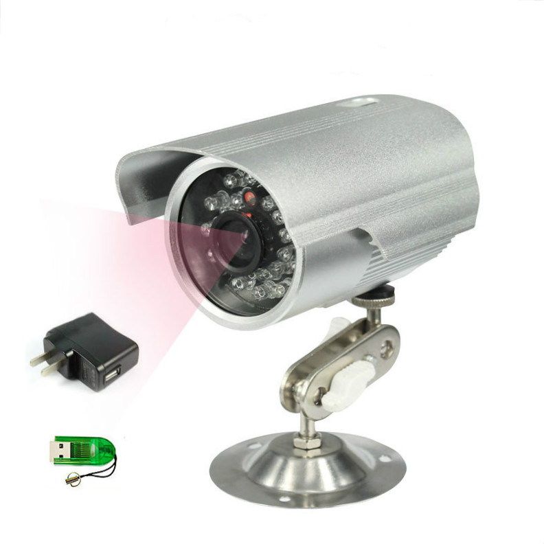 Security Waterproof USB Outdoor Security Camera TF Card With Night Vision Surveillance Bullet CCTV Camera Video Recorder