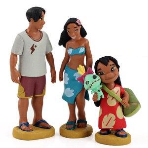 Image 3 - 6pcs/lot Lilo and Stitch Figure Toy Scrump Lilo Nani Pelekai Pleakley Jumba Jookiba Model Dolls Children Gifts