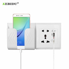 KEBIDU Dual USB Power Socket Home Wall Charger Adapter With EU Plug 2 Ports USB Outlet Power Charger For Phone Charging