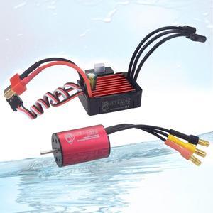 Waterproof Combo 2030 6500KV 7200KV 4500KV 2S Brushless Motor w/ 25A ESC for 1:20 1:18 GTR/Lexus RC Drift Racing Car(China)