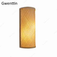 Bamboo Wall Lights Sconces Southeast Asia Japanese Country Home Decor LED Light Fixtures Bedroom Stairs Bathroom Lamp Luminarias