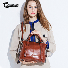 купить Boston Ladies Genuine Leather Bags 2019 Vintage Women Handbag Famous Brand Crossbody Bag Top-handle Soft Elegant Office Lady Bag дешево