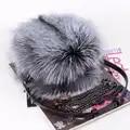 Luxo outono e inverno mulheres ombro saco de cabelo raposa moda senhora redonda saco macio 2019 jovens senhoras crossbody saco feminino