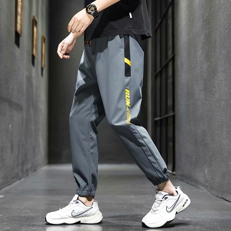 MENS FIT TRACKSUIT BOTTOMS SKINNY JOGGERS SWEAT PANTS GYM HIGHWAY BLACK