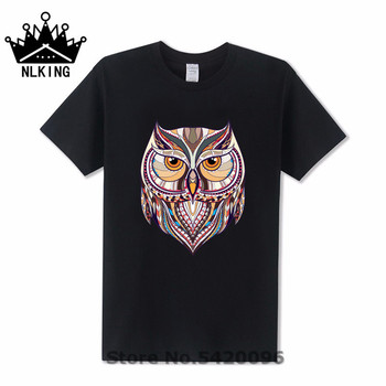 Ancient Harry Ethnic Owl T-Shirt Men women's geek style cotton T Shirt Hipster Magic Wizard Tees Owly Potter-lover Animal Tshirt