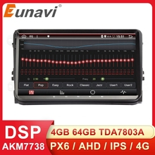 Eunavi 2 Din auto Radio estéreo multimeida para VW Passat B6 CC Polo GOLF 5 6 Touran Jetta Tiguan Magotan asiento Android GPS NO DVD