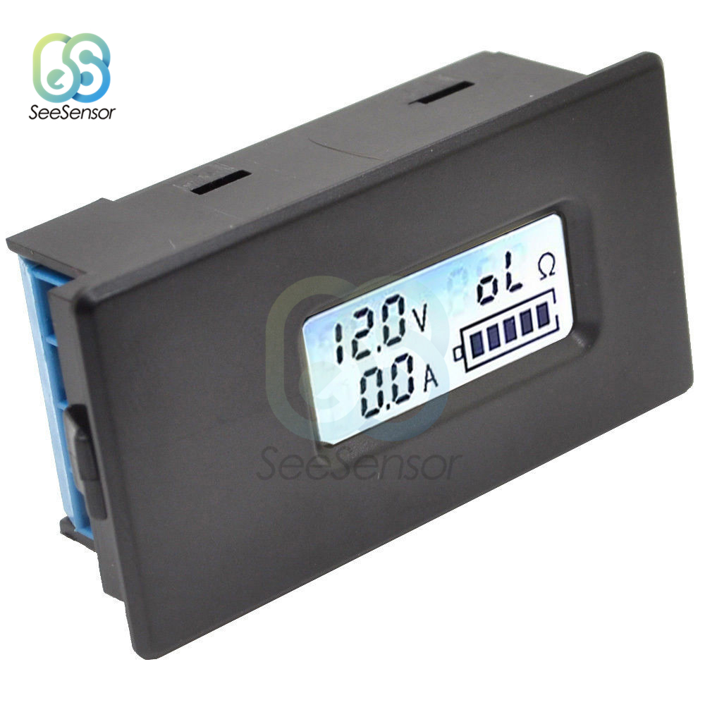 18650 26650 Digital LCD Display Lithium Li-ion Battery Tester Meter Voltage/Current/Resistance/Battery Capacity Tester With Case