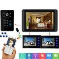 SmartYIBA 7 дюймов проводной/беспроводной Wifi RFID пароль видео дверной звонок Домофон Система с IR-CUT HD 1000TV