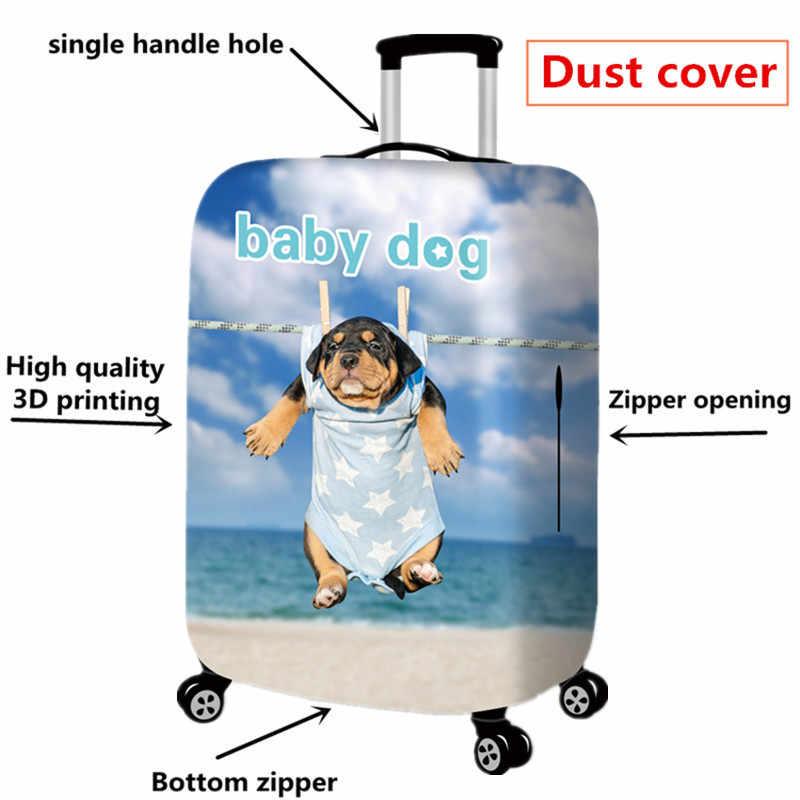 Чехол для чемодана с милым мультипликационным принтом, плотный защитный чехол для чемодана с 3D-принтом, эластичная сумка от пыли и дождя для чемоданов 18-32 дюймов, дорожные аксессуары для чемоданов