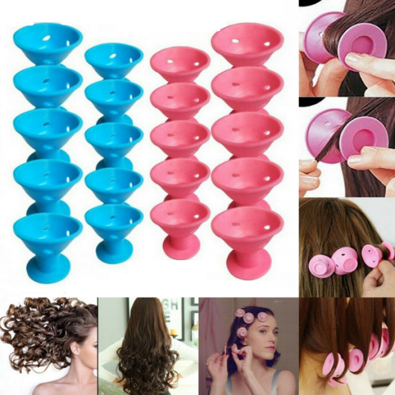Hair Care Rollers Magic Silicone Hair Curler Soft Rubber Twist Hair No Heat No Clip Hair Curling Styling DIY Tool Sleeping Care