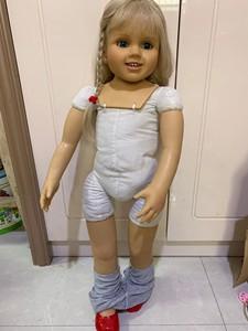Image 3 - Muñeca Rubia de silicona suave de 70CM para niñas, juguete de princesa de tamaño real, para fotos, regalo de Navidad
