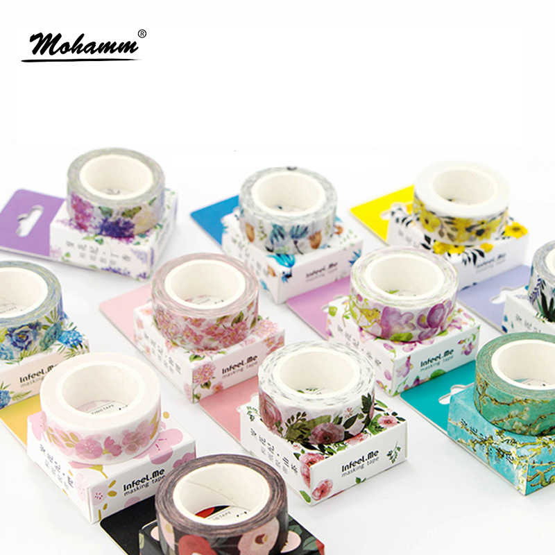 Leuke Kawaii Planten Bloemen Japanse Masking Washi Tape Decoratieve Plakband Decora Diy Scrapbooking Sticker Label Briefpapier