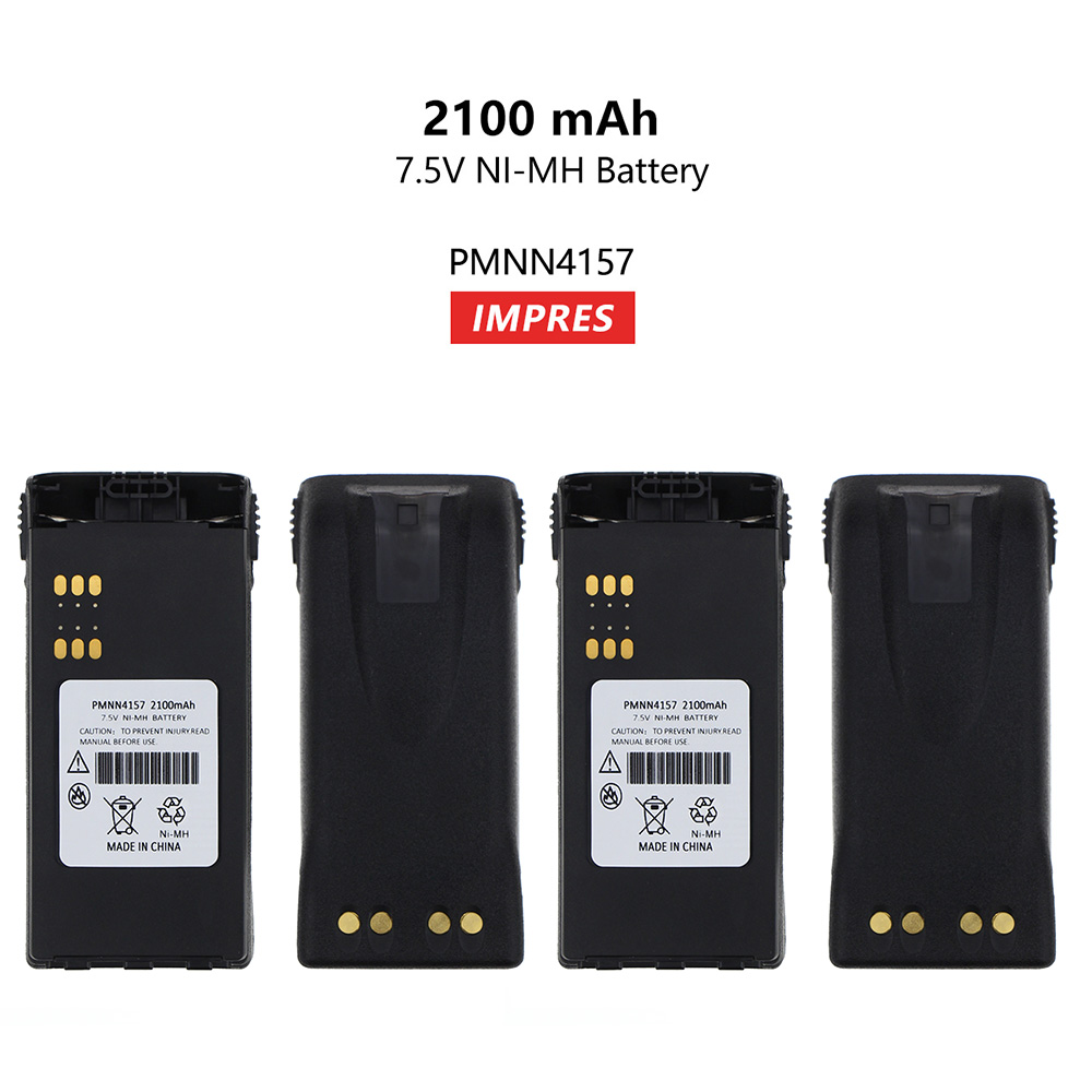 2 Pcs 7.5v 21000mAH PMNN4157 ATEX NI-MH Battery Replacement For Motorola GP328 GP338 PTX760 PTX700 MTX8250