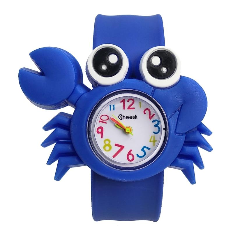 Cute Crab Shape Kids Watches Soft Silicone Children Watch For Boys Girls Clock Child Quartz Waterproof Watch Relogio Infantil