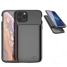 5000 мА/ч, Дополнительный внешний аккумулятор, жидкий Силиконовый противоударный чехол, чехол для батареи s, для iPhone 11 Pro, Max power чехол