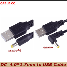 DC power plug USB Male to 4.0*1.7mm/DC 4017 Charger Power Cable Jack 4.0x1.7mm best quality small