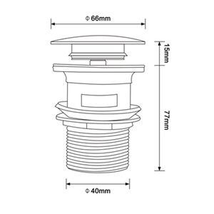 Image 5 - Smesiteli Bagno di Scarico Lucido Oro In Acciaio Inox Tubo di Acqua Filettato Perforato Cucina Lavello Spina