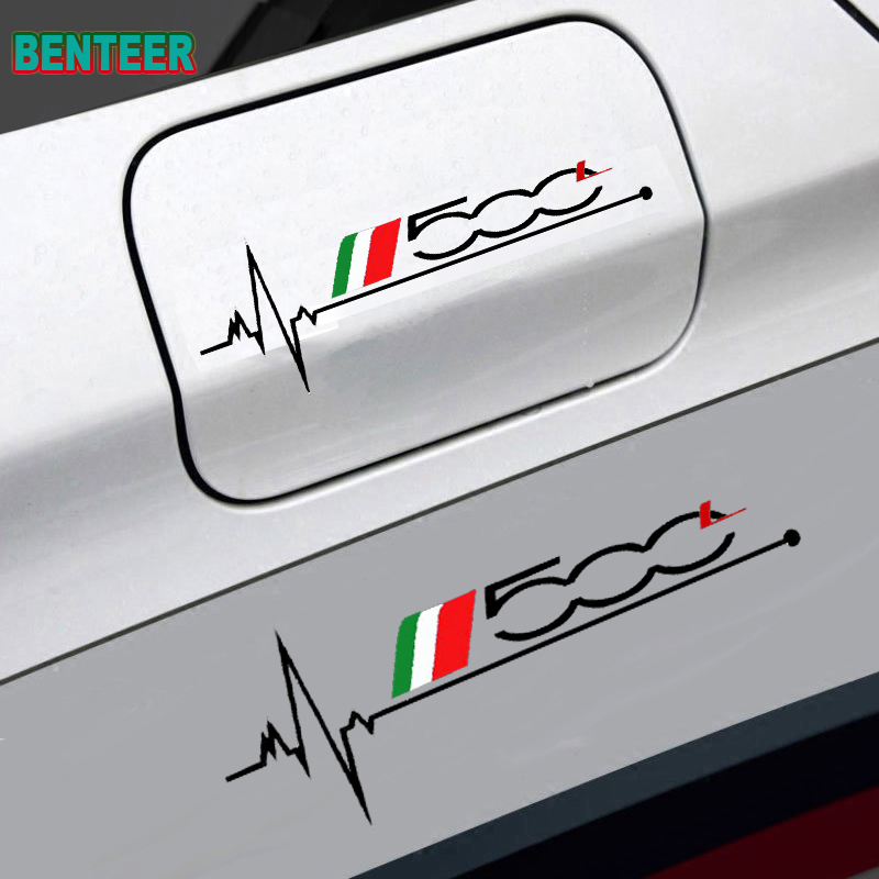 1 шт. наклейка на крышку автомобильного бака для fiat 500 500L 500X, декоративная наклейка на автомобиль