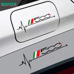 1pc Car tank cap sticker for fiat 500 500L 500X car decorative sticker