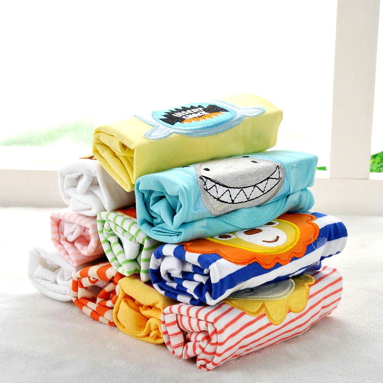 5Pcs/lot Cotton Baby Top Tees T-Shirts Boy Short Sleeve Baby Tops Kids Clothes  4-24M