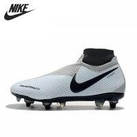 Nike Phantom VSN Elite DF SG Pro Anti Clog 39 45 High Ankle Soccer Shoes Football Boots Cleats Men Soccer Boots Football Shoes