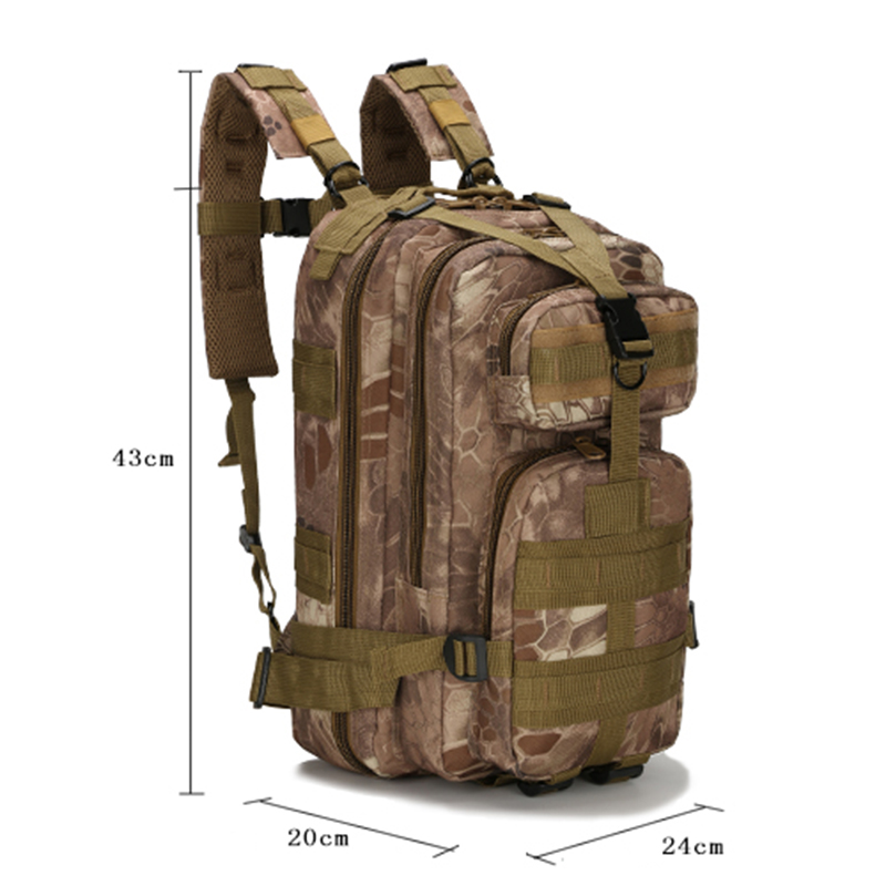 Details of Tactical 25L Camping Backpack