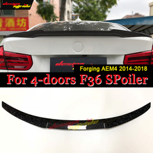F36 4-doors Hard Top Tail Spoiler Wing M4 Style Forging Carbon For BMW 4 Series 420i 430i 430iGC 440i Rear Trunk Spoiler 2014-18 f32 2 doors hard top tail spoiler wing forging carbon m4 style for bmw 4 series 420i 430i 430igc 440i trunk spoiler wing 2014 18