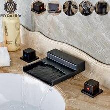 Раковины для ванной комнаты черный Широкий водопад носик кухонная