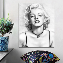 Marilyn Monroe Sketches Wall Art Canvas Posters And Prints Painting Decorative Pictures For Office Living Room Home Decor