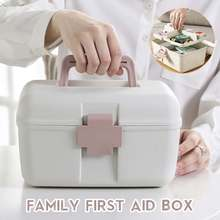 Family First Aid Box Emergency Kits Case Portable Wound Trea