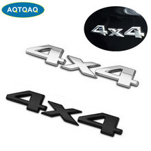 AQTQAQ 1 pièces 3D 4X4 Chrome Logo 3d décalcomanie emblème Logo autocollant liberté plaque signalétique Badge