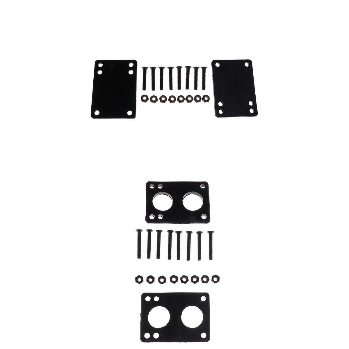 Skateboard Hardware Rubber Riser Pad Skateboard Screw Set Easy Installation 3mm Pad+6mm Pad