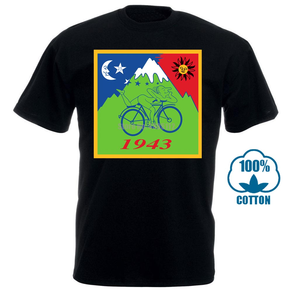 Albert Hofmann Bicyle Stamp Shirt D35 Tshirt Hoffman Acid Tripshort Sleeve Printed O Neck Tee For Men