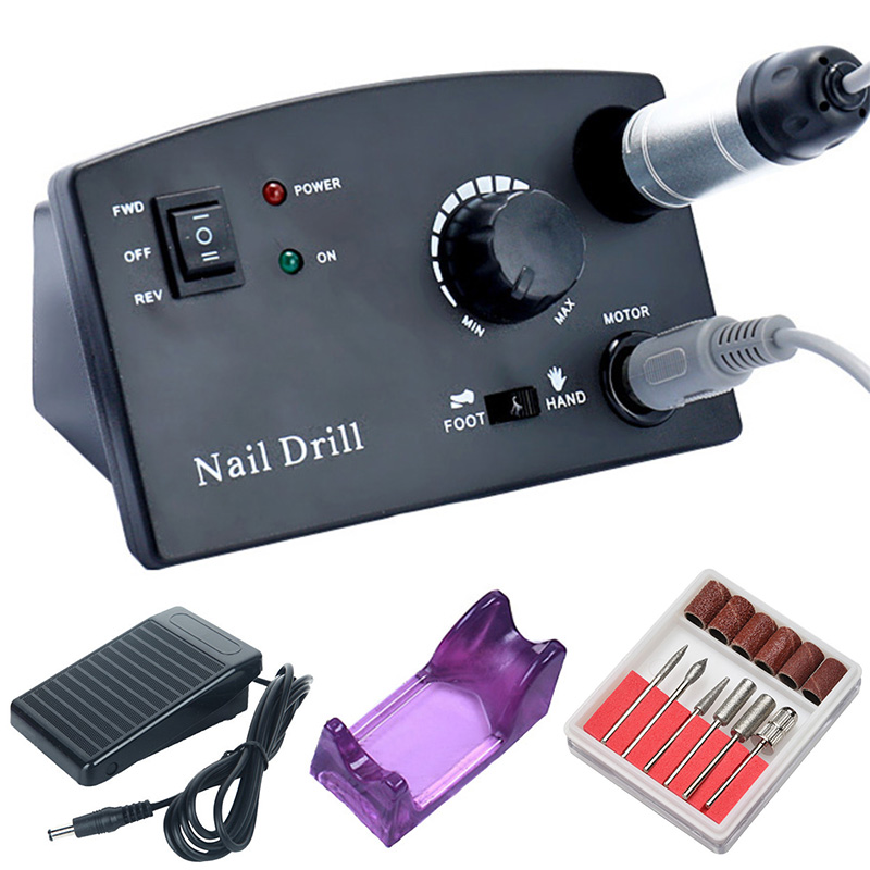PRO 35000 RPM Nail Drill Machine Electric Manicure Drill Machine Pedal Pedicure Nail Gel File Strong Nail Drill Equipment Tools