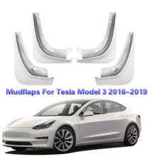 цена на BAFIRE 4Pcs/Set Car Mud Flaps Front Rear Mudguard Splash Guards Fender Mudflaps For Tesla Model 3 2016~2019 Black Blue White