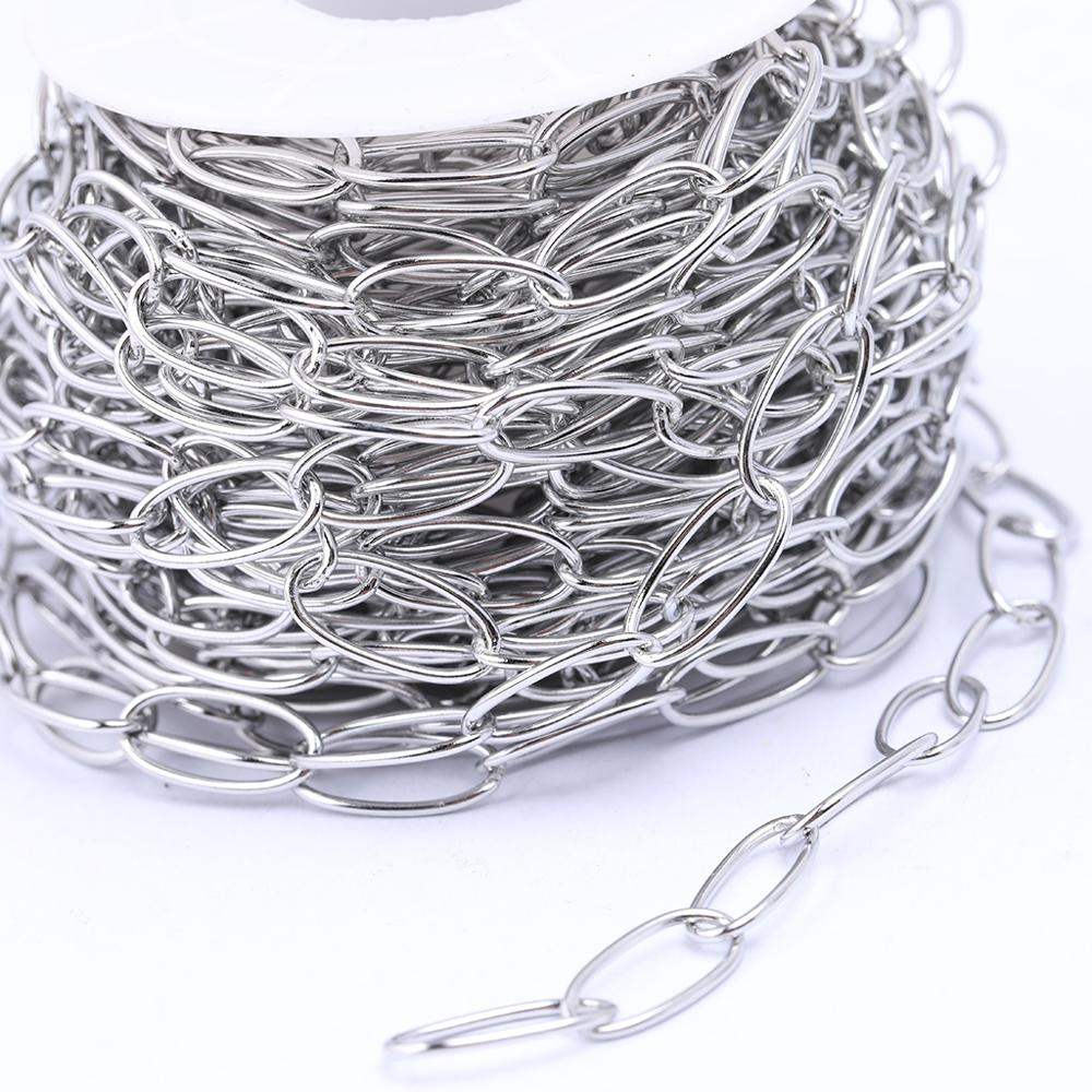 Onwear 1meter Stainless Steel Craft Curb Chains For Necklace Jewelry Making Diy Accessories