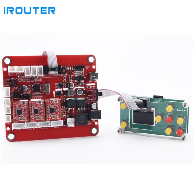 Frissített USB portos cnc gravírozó gép vezérlőpult, 3 tengelyes vezérlés, lézergravírozó gépes alaplap, GRBL vezérlés